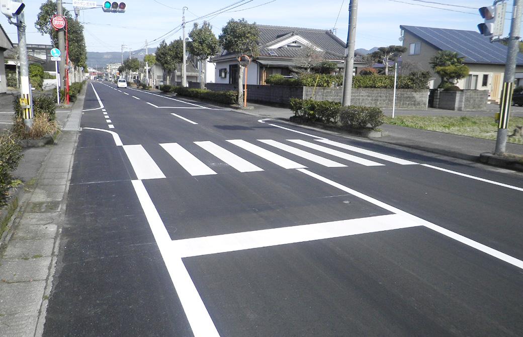 朝日町諏訪馬場線道路舗装補修工事